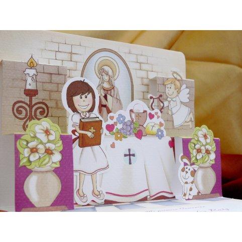 Kommunion Erinnerung Altar Cardnovel 20600
