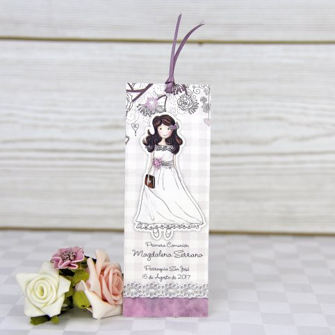 Reading point communion girl bow Cardnovel 208003