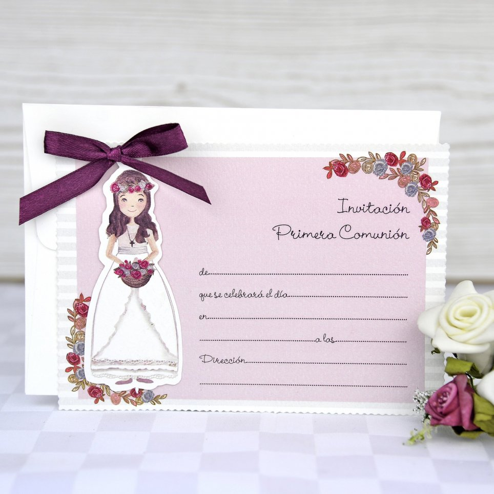 Kommunion Einladung Prinzessin Cardnovel 208021