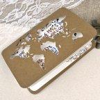 Hochzeitseinladung Weltkarte Kraft Cardnovel 39602 halboffen