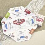 Wedding poly wedding invitation Cardnovel 39604 board