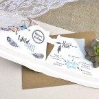 Invitación de boda zapatilla deportiva Cardnovel 39605 abierta
