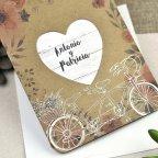 Invitación de boda bicicleta de enamorados Cardnovel 39606 detalle