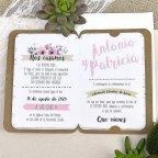 Invitación de boda bicicleta de enamorados Cardnovel 39606 texto