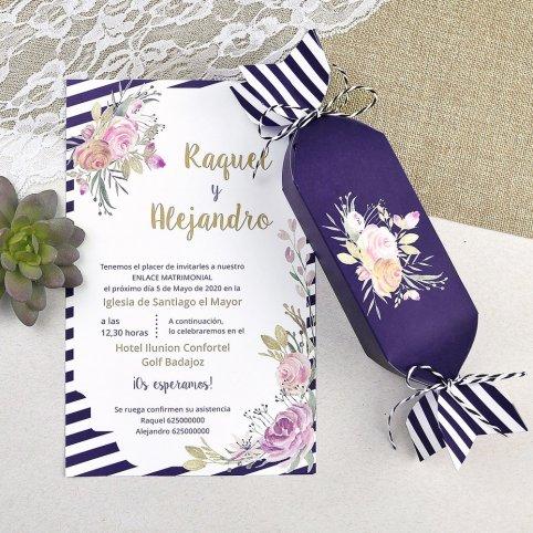 Invitación de boda caramelo Cardnovel 39607