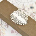 Gestanztes Detail der Hochzeitseinladungsbox Detail von Cardnovel 39608