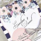Invitación de boda círculo rosa Cardnovel 39609 texto