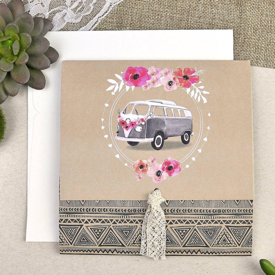Hochzeitseinladung cardnovel Blumen van 39610