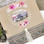 Invitación de boda furgoneta flores Cardnovel 39610 detalle