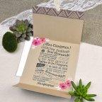 Invitación de boda furgoneta flores Cardnovel 39610 abierta