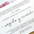 Hochzeitseinladung Schmetterling und Blumen Cardnovel 39611 Text