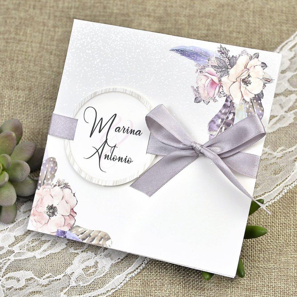 Invito a nozze neve e fiori Cardnovel 39613