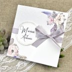 Snow and Flowers Wedding Invitation Cardnovel 39613