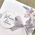 Invitación de boda nieve y flores Cardnovel 39613 detalle