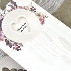 Invitación de boda atrapasueños corazón Cardnovel 39615 detalle
