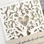 Hochzeitseinladungsbaum mit Herz Cardnovel 39616 Detail