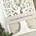 Hochzeitseinladungsbaum mit Herz Cardnovel 39616 Streifen