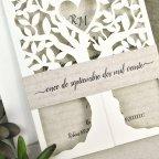 Invitación de boda árbol con corazón Cardnovel 39616 tira