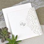 Hochzeitseinladungsgeländer der Liebe Cardnovel 39617