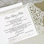 Invito a nozze ringhiere d'amore Cardnovel 39617 interno