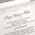 Hochzeitseinladungsgeländer der Liebe Cardnovel 39617 Text