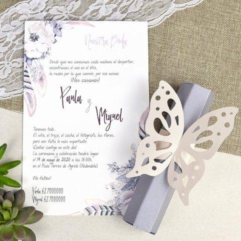 39619 Butterfly Cardnovel Invitation