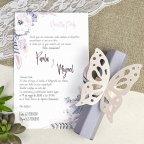 Hochzeitseinladung Schmetterling Pastell Cardnovel 39619