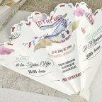 Invitación de boda avión y abanico Cardnovel 39620 abierto