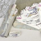 Wedding Invitation Airplane and Fan Cardnovel 39620 Detail