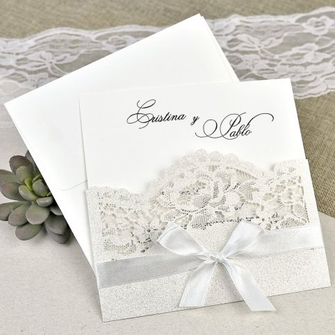 39621 Toe and Cardnovel Wedding Invitation