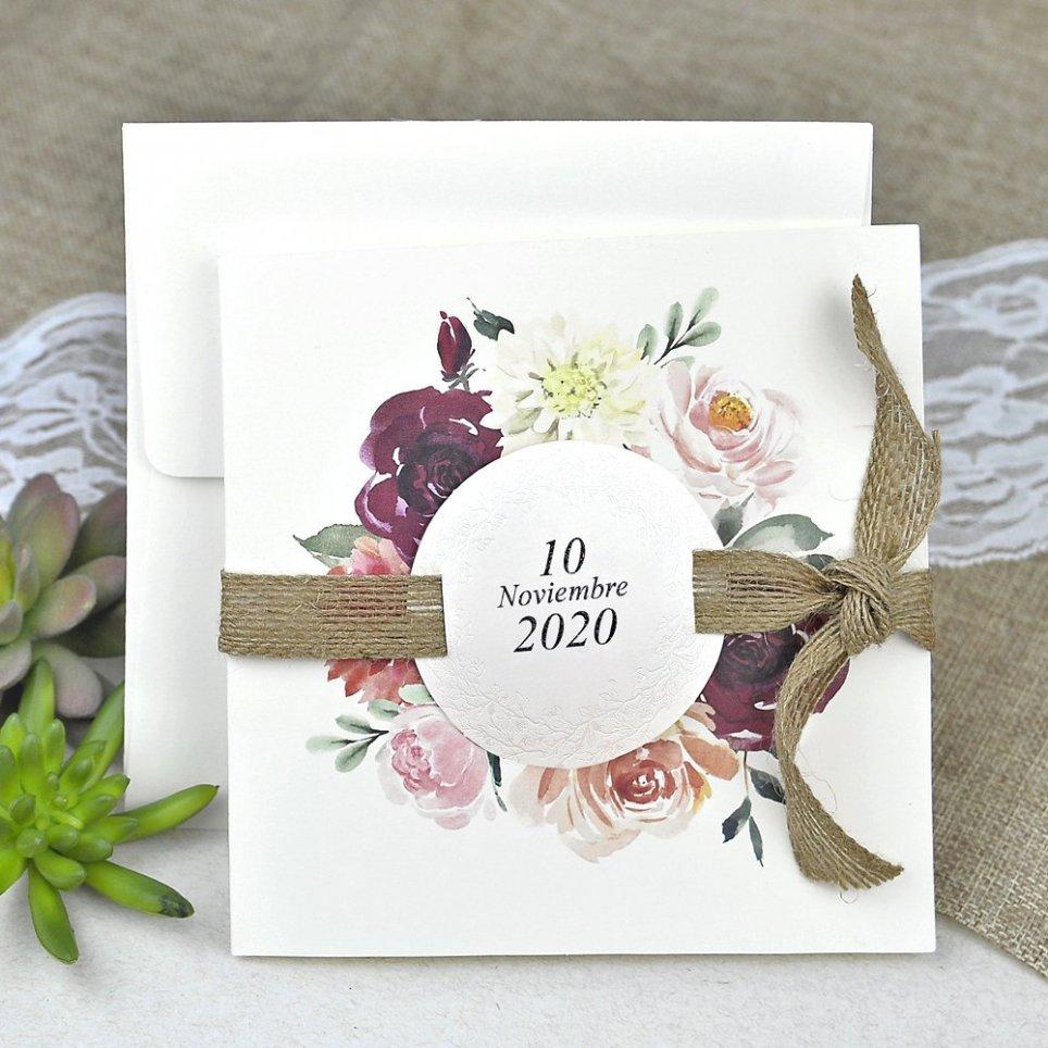Flowers and Spartan Wedding Invitation Cardnovel 39622