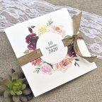 Invitación de boda flores y esparto Cardnovel 39622 sin sobre