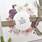Wedding Invitation Flowers and Spartan Cardnovel 39622 detail