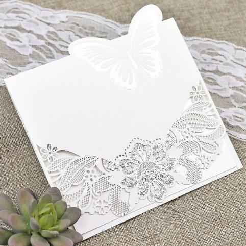 Cardnovel Die Cut Garden Wedding Invitation 39624