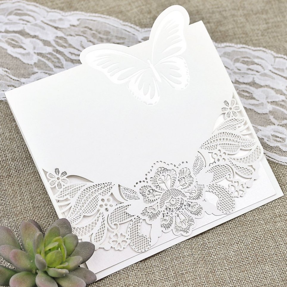 Cardnovel Die Cut Garden Wedding Invitation 39624