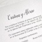 Invitación de boda jardín troquelado Cardnovel 39624 texto