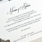 Invitación de boda altar troquelado Cardnovel 39625 texto