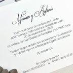 Matrimonio invito altare fustellato Cardnovel 39625 testo