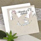 Hochzeitseinladung Kraft Schmetterlinge Cardnovel 39626