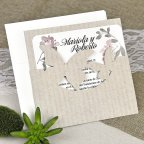 Invitación de boda mariposas kraft Cardnovel 39626