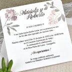 Invitación de boda mariposas kraft Cardnovel 39626 texto
