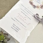 Invitación de boda caja y pergamino Cardnovel 39627 texto