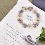 Scatola invito matrimonio e dettaglio Cardnovel 39627 pergamena