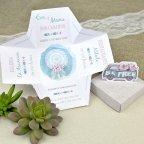Invitación de boda caja Be Free Cardnovel 39628 abierta