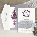 Invitación de boda verjurado y troquel Cardnovel 39630