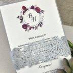 Invitación de boda verjurado y troquel Cardnovel 39630 tarjeta