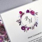 Invitación de boda verjurado y troquel Cardnovel 39630 detalle