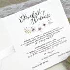 Wedding Invitation Roses and Petals Relief Cardnovel 39632 Text