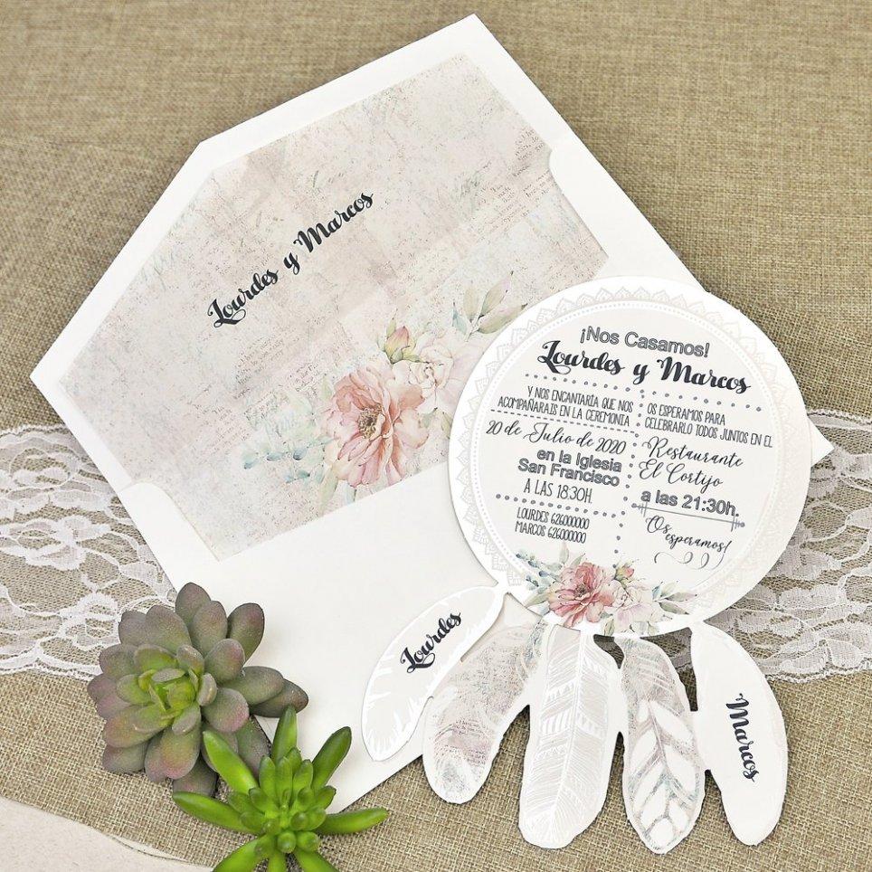 Invitación de boda atrapasueños Cardnovel 39633
