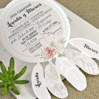 Invitación de boda atrapasueños Cardnovel 39633 detalle